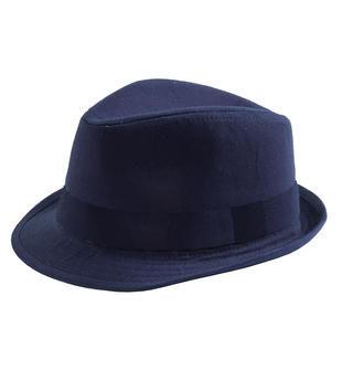 Cappello modello panama in twill di cotone sarabanda NAVY-3854