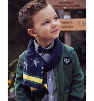 Sciarpa in tricot con stelle e strisce sarabanda NAVY-3854