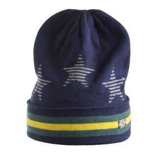 Cappellino in tricot con stelle e strisce sarabanda NAVY-3854