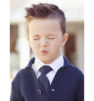 Elegante cravatta con apertura con velcro sarabanda NAVY-3854