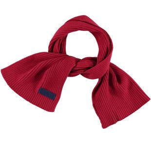Sciarpa in tricot misto cotone sarabanda ROSSO-2536