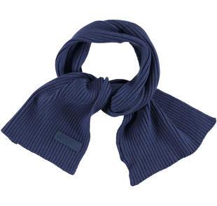 Sciarpa in tricot misto cotone sarabanda NAVY-3854