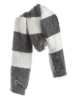 Sciarpa in tricot lurex effetto pelliccia sarabanda GRIGIO SCURO-0564