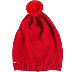Cappellino modello cuffia in tricot misto cotone sarabanda ROSSO-2253