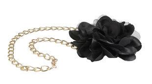 Collana con fiore in tulle sarabanda NERO-0658