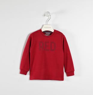 Maglietta girocollo con stampa colore 100% cotone sarabanda ROSSO-2536