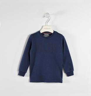Maglietta girocollo con stampa colore 100% cotone sarabanda NAVY-3854