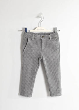 Elegante pantalone in felpa garzata sarabanda GRIGIO-GRIGIO SCURO-6ET6