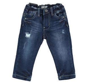 Jeans modello cinque tasche con rotture sarabanda BLU-7750