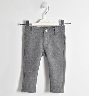 Raffinato pantalone in jaspé sarabanda GRIGIO MEL.-NAVY-6EU3