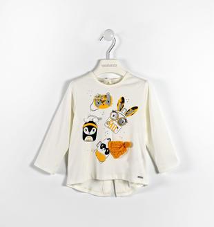 Maxi maglia con allegre stampe sarabanda PANNA-0112