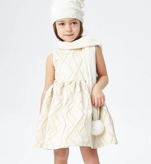Raffinato ed elegante abito smanicato in tessuto operato jacquard sarabanda ORO-1154