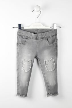 Jeans denim stretch toppe gattino sarabanda GRIGIO CHIARO-7992