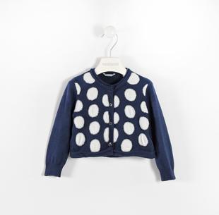 Cardigan in tricot a pois sarabanda NAVY-3854