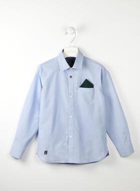 Camicia micro fantasia 100% cotone con pochette sarabanda AVION-3621