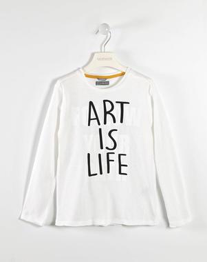 Trendy maglietta 100% cotone sarabanda BIANCO-0113