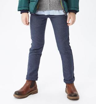 Pantalone lavorazione jacquard sarabanda NAVY-3854