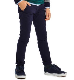 Pantalone classico in tinta unita slim fit sarabanda NAVY-3854
