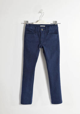 Elegante pantalone in twill sarabanda NAVY-3854