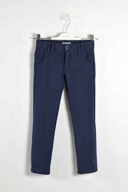 Morbido pantalone in raffinato tessuto jaspé sarabanda NAVY-3854