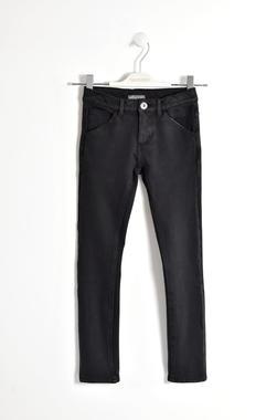 Pantalone tinta unita in felpa stretch sarabanda NERO-0658
