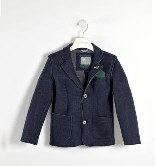 Giacca in maglia misto lana sarabanda NAVY-3854