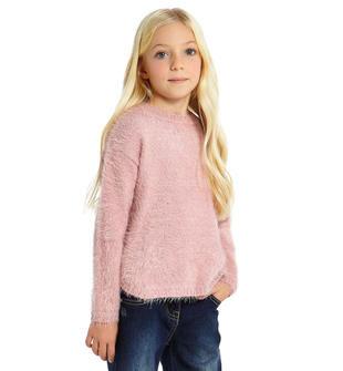 Maglioncino girocollo tricot lurex effetto pelliccia sarabanda ROSA-3031
