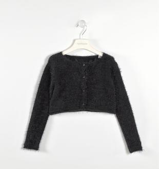 Cardigan scaldacuore tricot lurex sarabanda NERO-0658