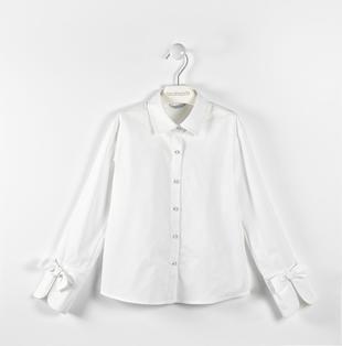 Classica camicia con fiocchi sarabanda BIANCO-0113