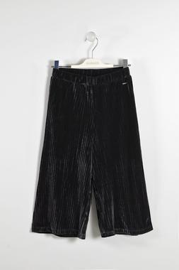Pantalone modello gaucho in ciniglia plissé sarabanda NERO-0658