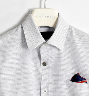 Camicia 100% cotone con pochette regimental sarabanda BIANCO-0113