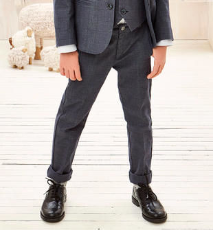Elegante pantalone con dettagli regimental sarabanda NAVY-3854