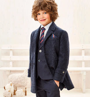 Raffinato cappotto in lana cotta sarabanda NAVY-3854