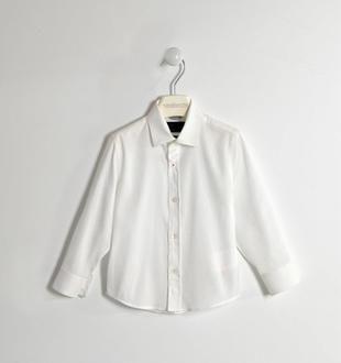 Camicia 100% cotone micro jacquard sarabanda BIANCO-0113