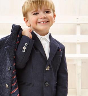 Elegante giacca in cotone con pochette regimental sarabanda NAVY-3854