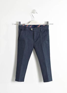 Elegante pantalone tessuto mélange sarabanda NAVY-3854