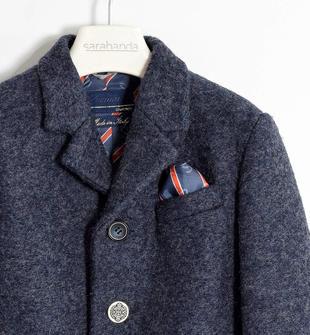 Cappotto in lana cotta con pochette sarabanda NAVY-3854