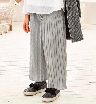 Raffinato pantalone modello cropped plissé sarabanda GRIGIO MELANGE-8992