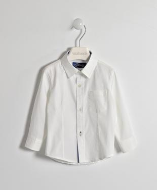 Camicia classica con rifiniture oxford sarabanda BIANCO-0113