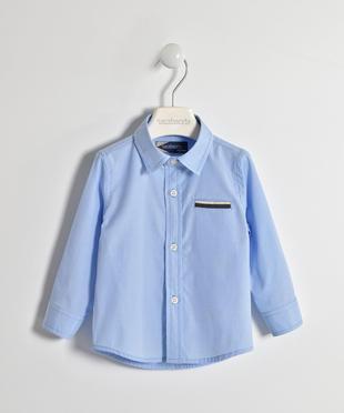 Camicia bambino in cotone manica lunga in azzurro Oxford sarabanda CELESTE-3634