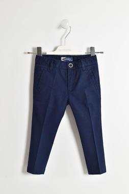 Eleganti pantaloni cotone misto lino sarabanda NAVY-3854