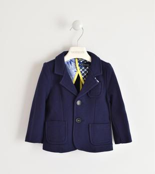 Giacca blazer classico per bambino in cotone destrutturato sarabanda NAVY-3854