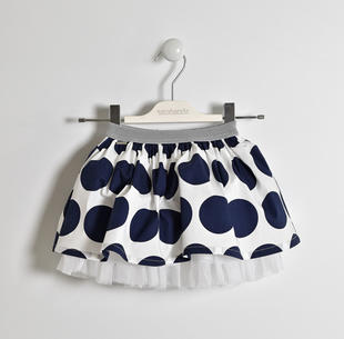 Gonna a pois con elastico lurex sarabanda NAVY-3854