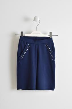Pantalone modello cropped in punto milano sarabanda NAVY-3854