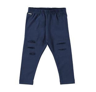 Leggings in jersey con strappi e ricamo interno sarabanda NAVY-3854