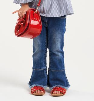 Pantalone in denim con gamba a zampa sarabanda STONE WASHED-7450