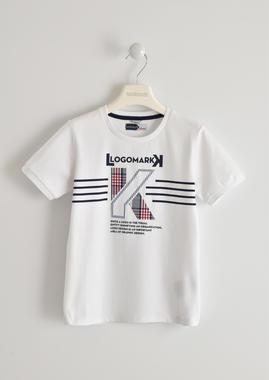Comoda e confortevole t-shirt bambino a manica corta in cotone sarabanda BIANCO-0113