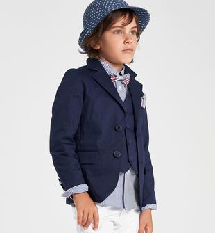 Elegante giacca cerimonia per bambino in cotone stretch sarabanda NAVY-3854