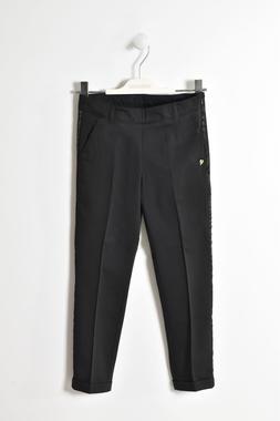Pantalone bambina in cotone stretch vestibilità a sigaretta sarabanda NERO-0658