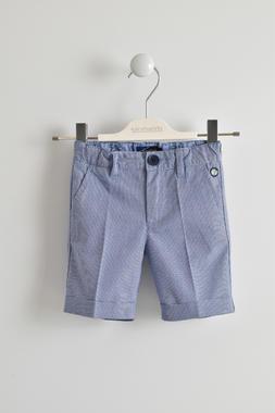 Pantalone corto 100% cotone fantasia micro quadretti sarabanda ROYAL-3746